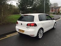 VW GOLF 2.0 GT TDI 60 REG CANDY WHITE ONE OWNER FULL HISTORY NEW CLUTCH TIMING BELT REPLACED