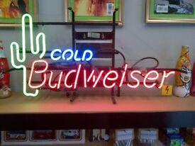 Neon Budweiser Sign