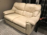 LEATHER SUITE - 2 SEATER AND ARMCHAIR
