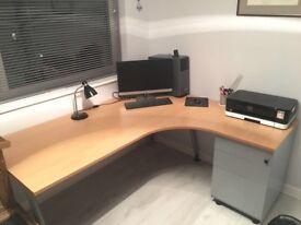 Office Desk and Locking Draws