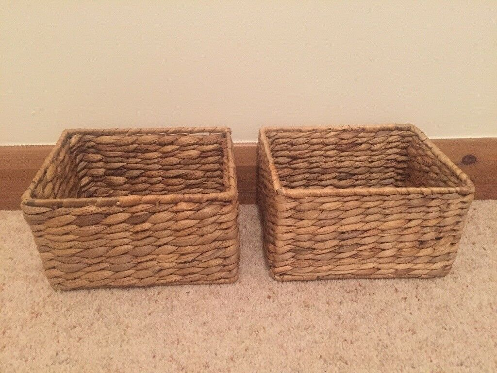 Four Wicker Baskets in Excellent Condition