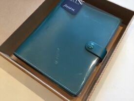 Filofax Original A5 - LEATHER - teal jade sea blue green and insert