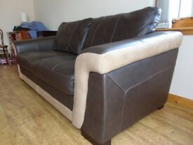 £100 for BOTH coordinated 3 & 2 seater leather sofas