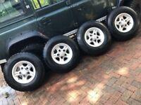 Landrover Alloys with good BFGoodrich tyres LT 235/85 R16