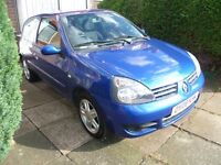 RENAULT CLIO 1.2, 2008 REG, FULL MOT, TOP SPEC, VERY LOW MILEAGE ONLY 50,000 MILES