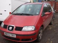 SEAT ALHAMBRA 2003 BREAKING FOR SPARES PARTS