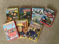 Thomas the Tank Engine and Fireman Sam DVD's