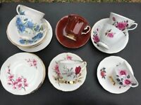 Assortment of bone china cups, saucers and plates £20