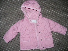 Next pink quilted jacket for girl 6-9mths. Excellent condition!