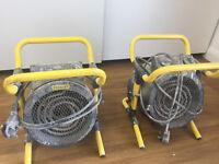 Stanley ST-52-241-E Turbo Freestanding Workshop Electric Fan Heater 2000W x2