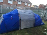 6 man blue tent