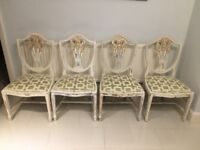 4 Hepplewhite style chairs with gilding