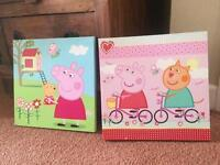 Peppa pig canvas pictures
