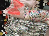 2 summer Girls Outfits and 4 PJ sets
