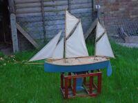 Remote control Thames Barge sailing boat.