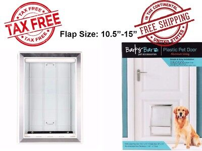 Pet Door Extra Large Frame Durable Easy Install Dog Doggie Flap Mount Secure XL