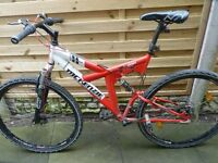 MCENZIE HILL 400 ADULT MOUNTAIN BIKE, GOOD CONDITION, BARGAIN £45, CAN DELIVER