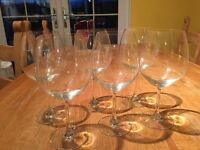 6 lovely large red wine glasses