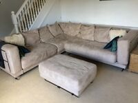 IKEA sofa bed and chaise lounge, or corner sofa