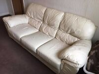 White leather sofa for quick sale