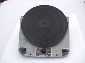 Garrard 301 - Rare early hammertone grease bearing model - serial no 12119