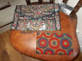 TWO SMALL HANDBAGS, THE LARGER BEING A BRAND NEW ZARA BAG