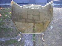 Brass firescreen