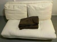 Futon Company Linear Double 2 Seater Sofa Bed Cost £1100 Thick Sofabed Mattress VGC