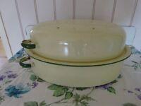 Vintage Enamel Roasting Tin