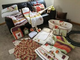 Mamas & papas nursery set bundle everything needed for a new baby's nursery Moses basket