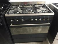 SMEG stainless steel good condition 90cm 5 burner range gas cooker with oven & grill