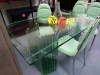 Italian glass dining table stunning