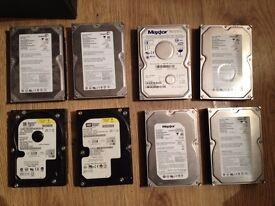 11 Hard Drives IDE & SATA