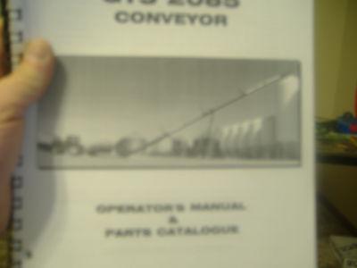 Rem Gts 2085 Conveyer Auger Operators Manual Parts