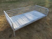Ikea bed single, portable, day bed with mattress, excellent