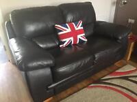 2 seater leather Reid sofa