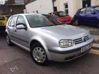 VW VOLKSWAGEN GOLF 1.6 5 DOOR AUTOMATIC 2002 LOW MILEAGE 1 FORMER OWNER LONG MOT NO ADVISORY