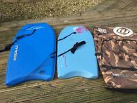 Belly boards plus bag