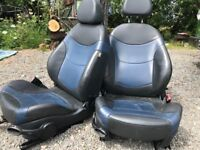 Cooper S front and rear seats