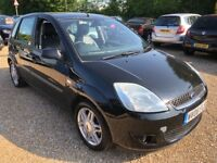 2006 FORD FIESTA 1.4 GHIA BLACK 5DR HATCHBACK WITH FULL LEATHER