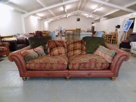 Leather & Fabric Tetrad Eastwood Grande 3-4 Seater Sofa *2*