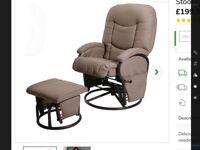 Cloud Nine Breastfeeding Reclining/ Rocking chair with foot stool