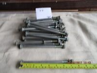 GALVANISED FENCING BOLTS 7 INCHES LONG X 29 EXCELLENT CONDITION WILL SEPARATED IF NEEDED