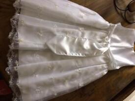 Holy communion / flower girl dress and veils