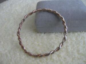 BEAUTIFUL OLD ROPE-STYLE 9-INCH BANGLE BRACELET from the 60S