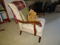 Vintage mid century retro Parker Knoll re-upholstered fireside armchair