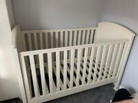 Cot bed and wardrobe