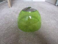Green plastic lampshade
