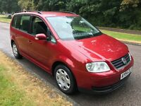Volkswagen Touran SE 1.9TDI 1896cc Turbo Diesel 6 speed manual 7 seat estate 54 Plate 01/09/2004 Red