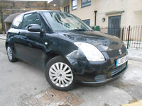 2007 SUZUKI SWIFT 1.3 GL BLACK CAR with FSH part exchange x swap swop possible not corsa fiesta polo